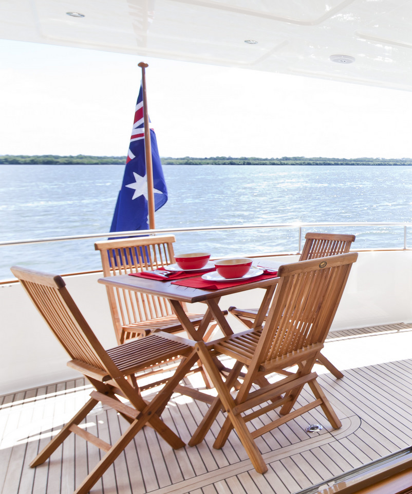 Outdoor Folding Teak Furniture Into Boats Marine